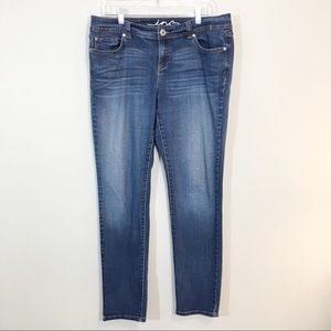 Inc Blue Denim Skinny Leg Curvy Fit Jeans Size 14